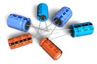 A group of Aluminum Electrolytic Capacitors